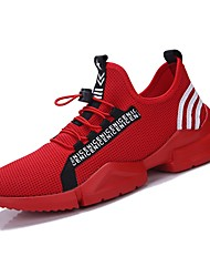 cheap -Men's Light Soles Net / Tulle Summer Comfort Sneakers Running Shoes / Tennis Shoes / Walking Shoes White / Black / Red