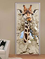 Недорогие -Декоративные наклейки на стены - 3D наклейки Пейзаж / Животные Кабинет / Офис / Детская