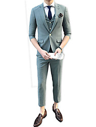 cheap -Men's Suits-Solid Colored Notch Lapel / Work