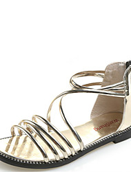 cheap -Women's Shoes Synthetic Summer Comfort / Gladiator Sandals Flat Heel Gold / Black / Silver