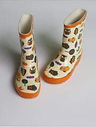 baratos -Para Meninas Sapatos Borracha Primavera Verão Botas de Chuva Botas para Ao ar livre Amarelo / Vermelho