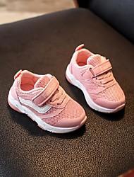 abordables -Garçon Chaussures Tulle Automne Premières Chaussures Basket Scotch Magique pour Blanc / Noir / Rose