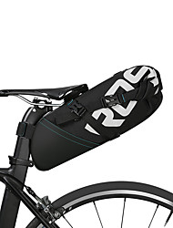 cheap -ROSWHEEL 10 L Bike Saddle Bag Reflective, Rain-Proof, Waterproof Zipper Bike Bag Polyester Bicycle Bag Cycle Bag Cycling Bike