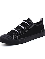 Недорогие -Жен. Обувь Искусственное волокно Весна лето Вулканизованная обувь Кеды На плоской подошве Круглый носок Ленты Белый / Черный
