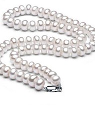 cheap -Women's Choker Necklace  -  Pearl, S925 Sterling Silver, Freshwater Pearl Ball Simple, Natural, Fashion White 43 cm Necklace 1pc For Party / Evening, Daily