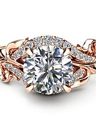 cheap -Synthetic Diamond Engagement Ring - Copper Dinosaur, Ball Holiday, Fashion, Oversized 6 / 7 / 8 Champagne For Party / Masquerade / Valentine