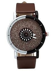 cheap -Couple's Quartz Wrist Watch Casual Watch PU Band Fashion Black White Brown