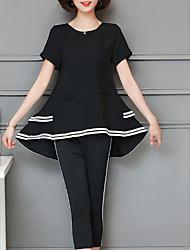 abordables -Mujer Noche Corte Ancho Conjunto - Un Color Pantalón / Verano