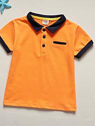 economico -Bambino (1-4 anni) Da ragazzo Tinta unita Manica corta T-shirt