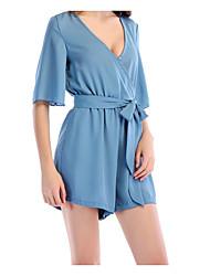 baratos -Mulheres Blusa Sólido Calça