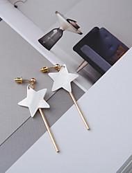 Недорогие -Серьги-слезки - Морская раковина Звезда Простой, корейский, Мода Белый Назначение Повседневные