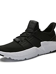 cheap -Men's Shoes Knit / Tulle Summer Comfort / Light Soles Athletic Shoes Running Shoes Black / Gray / Army Green