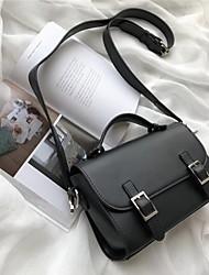 abordables -Femme Sacs PU Cartable Boutons Noir / Rose Claire / Marron