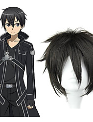 cheap -Cosplay Wigs Sword Art Online Kirito Anime Cosplay Wigs 32 CM Heat Resistant Fiber Men's