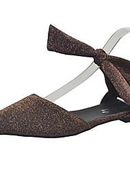preiswerte -Damen Schuhe PU Frühling Komfort Flache Schuhe Flacher Absatz Schwarz / Silber / Kaffee
