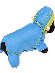 preiswerte -Hunde / Katzen / Haustiere Regenmantel / Waterproof / Daunenjacken Hundekleidung Solide / Einfarbig / Einfache Gelb / Fuchsia / Blau Stoff