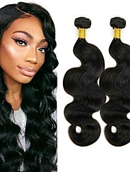 cheap -Brazilian Hair Wavy One Pack Solution 6 Bundles Human Hair Weaves Extention / Hot Sale Natural Black Human Hair Extensions All