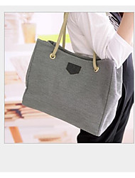 cheap -Women's Bags Canvas Tote Hollow-out for Shopping Blue / Gray / Khaki