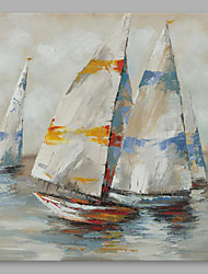 baratos -Pintura a Óleo Pintados à mão - Abstrato Modern Others