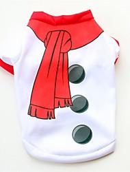 billiga -Hund / Katt / Husdjur Väst Hundkläder Färgblock / Enkel / Jul Vit Cotton Kostym För husdjur Dam Söt Stil / Ledigt / vardag
