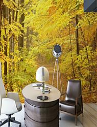 baratos -papel de parede / Mural Tela de pintura Revestimento de paredes - adesivo necessário Árvores / Folhas / Art Deco / Padrão