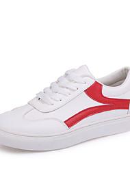 お買い得  -女性用 靴 PUレザー 春夏 コンフォートシューズ スニーカー フラットヒール ラウンドトウ のために オフィス&キャリア ブラック / レッド / ライトブルー