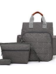baratos -Mulheres Bolsas Tela de pintura / Algodão Conjuntos de saco 3 Pcs Purse Set Com Relevo Azul / Vermelho / Cinzento