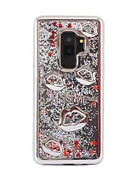 baratos -Capinha Para Samsung Galaxy S9 Plus / S8 Plus Galvanizado / Liquido Flutuante / Glitter Brilhante Capa traseira Glitter Brilhante Macia TPU para S9 / S9 Plus / S8 Plus