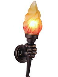 baratos -Novo Design Rústico / Campestre Luminárias de parede Sala de Estar / Ao ar Livre Resina Luz de parede 40W