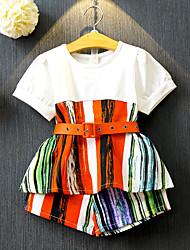 Недорогие -Дети / Дети (1-4 лет) Девочки Пэчворк С короткими рукавами Набор одежды