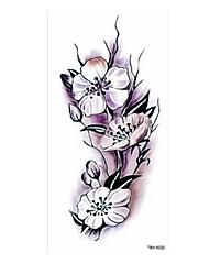 Недорогие -5 pcs Временные тату Временные татуировки Тату с цветами / Романтическая серия Искусство тела Корпус / плечо / ножка