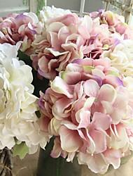 Недорогие -Искусственные Цветы 1 Филиал европейский / Свадебные цветы Гортензии Букеты на стол