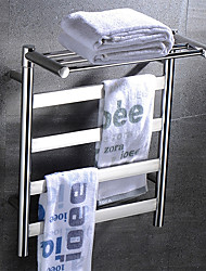 cheap -Electric Warmer Towel Bars with Regular Rack Full Welding 304# Stainless Steel Rustproof Mirror Polished Drying Rack T4