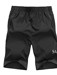 cheap -Men's Plus Size Slim Shorts Pants - Letter / Please choose one size larger according to your normal size. / Beach