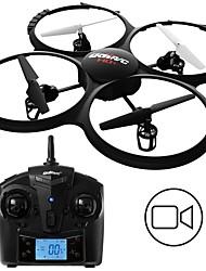 baratos -RC Drone UDI R / C U818A BNF 4CH 6 Eixos 2.4G Com Câmera HD 2.0MP 720P Quadcópero com CR Modo Espelho Inteligente Quadcóptero RC / Controle Remoto / 1 Bateria Por Drone
