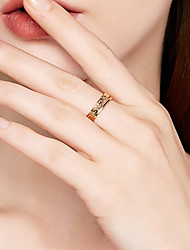 cheap -Women's S925 Sterling Silver Open Ring / Band Ring - Metallic / Simple / Vintage Gold Ring For Other / Daily / Date