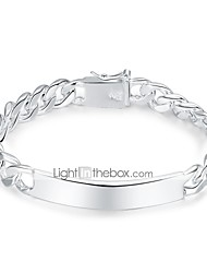 cheap -Geometric / Hollow Chain Bracelet / Wide Bangle - Simple, Vintage Bracelet Silver For Daily / Work