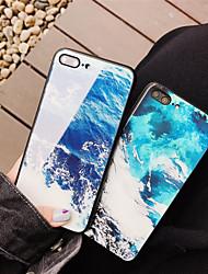 economico -Custodia Per Apple iPhone X / iPhone 8 Fantasia / disegno Per retro Paesaggi Resistente Vetro temperato per iPhone X / iPhone 8 Plus /