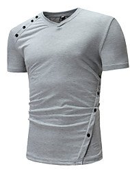 abordables -Tee-shirt Homme, camouflage Basique Col en V / Manches Courtes