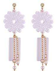 preiswerte -Tropfen-Ohrringe - Blume Europäisch, Süß, Modisch Weiß Für Hochzeit / Party