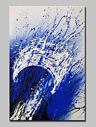 abordables -Pintura al óleo pintada a colgar Pintada a mano - Abstracto Pop Art Modern Lona