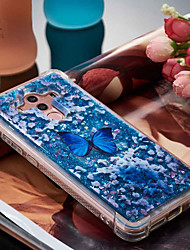 cheap -Case For Huawei Mate 10 pro / Mate 10 lite Shockproof / Flowing Liquid / Pattern Back Cover Butterfly Soft TPU for Mate 10 pro / Mate 10