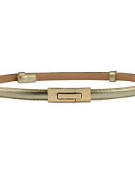 abordables -Mujer Piel / Legierung Cinturón Slim - Activo / Chic de Calle