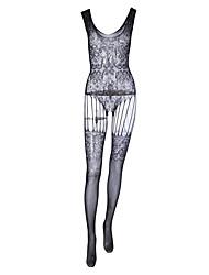 Недорогие -Жен. Большие размеры Сексуальные платья Комбинация Ночное белье - Сетка Однотонный