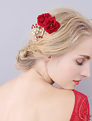 cheap -Flannel Hair Combs with Crystal / Rhinestone / Flower 1 Piece Wedding / Party / Evening Headpiece