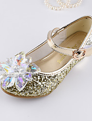 cheap -Girls' Shoes Sparkling Glitter Spring / Fall Flower Girl Shoes Sandals Crystal / Sequin / Magic Tape for Kids Silver / Purple / Blue