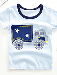 voordelige -Kinderen Jongens Print Korte mouw T-shirt