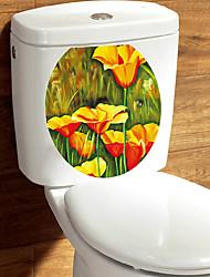 economico -Adesivi decorativi da parete Adesivi toilet - Adesivi aereo da parete 3D Floreale / Botanical Salotto Camera da letto Bagno Cucina Sala