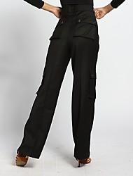 abordables -Danse de Salon Bas Homme Utilisation Spandex Ruché Taille haute Pantalon