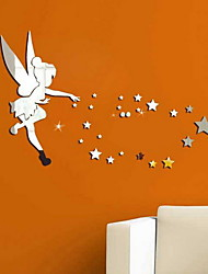 cheap -Decorative Wall Stickers - Mirror Wall Stickers Stars / Fairies Living Room / Bedroom